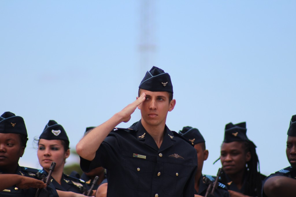 Saluting the CSAAF. ADR/JOHN STUPART