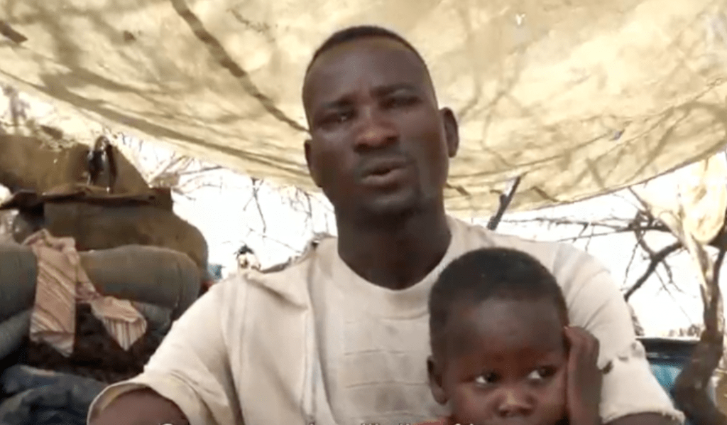 Displaced farmer Haider Anur (Nuba Reports)