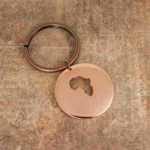 Africa Keychain Copper