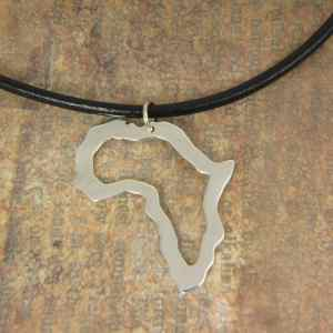 Africa Outline Map Pendant