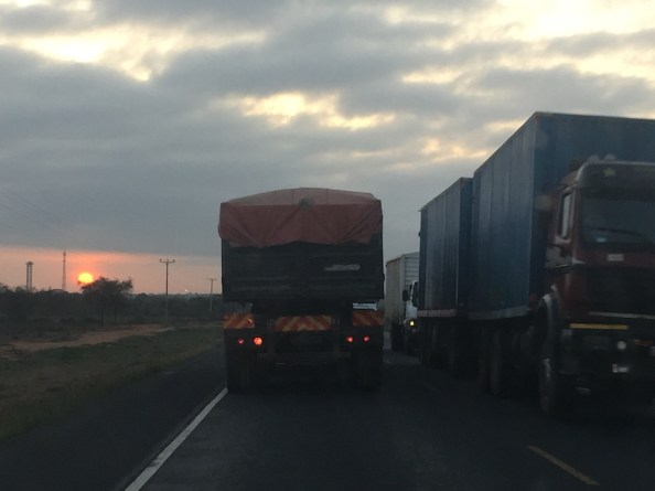 We left Machakos around 4am, so had passed Emali by the time the sun rose over the hectically busy Mombasa Highway.