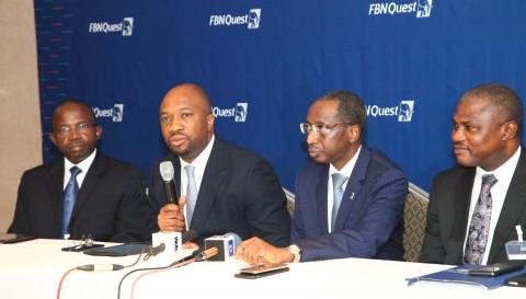 LtoR-Mr Taiwo Okeowo DMD FBN Capital  Mr Kayode Akinkugbe MD FBN Capital  Mallam Bello Maccido GCEO FBN Holdings Plc  Mr Gboyega
