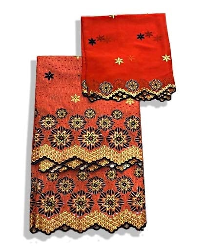 Embroidery cotton lace with embroidery