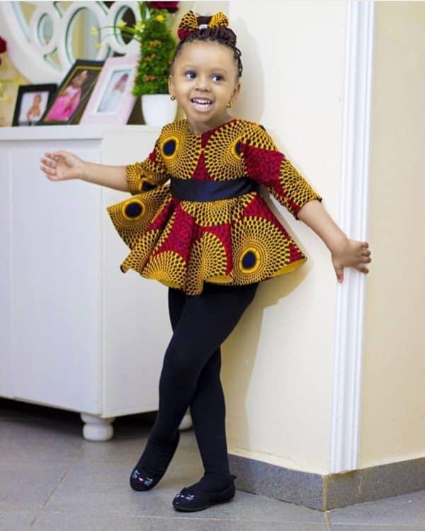 BEAUTIFUL ANKARA STYLES FOR KIDS 2019 5