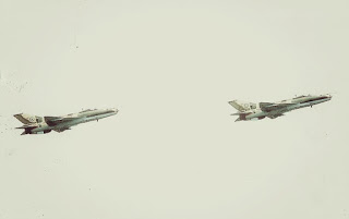 Two NAF F-7Ni Airguard jets