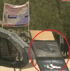 picture of the Nigerian Army made helicopter