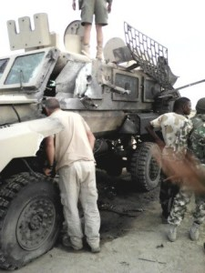 STTEP with their iconic REVA MRAP on patrol in northeastern Nigeria