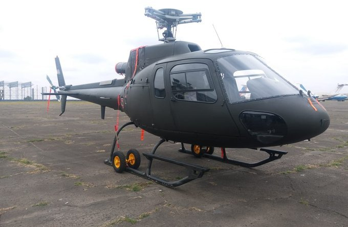 kenyan air force as-350 ecureuil helicopters