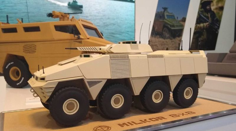 Milkor unveils new 8x8 armored vehicle