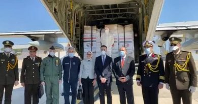 COVID-19: Egyptian Air Force airlifts medical aids to Italy