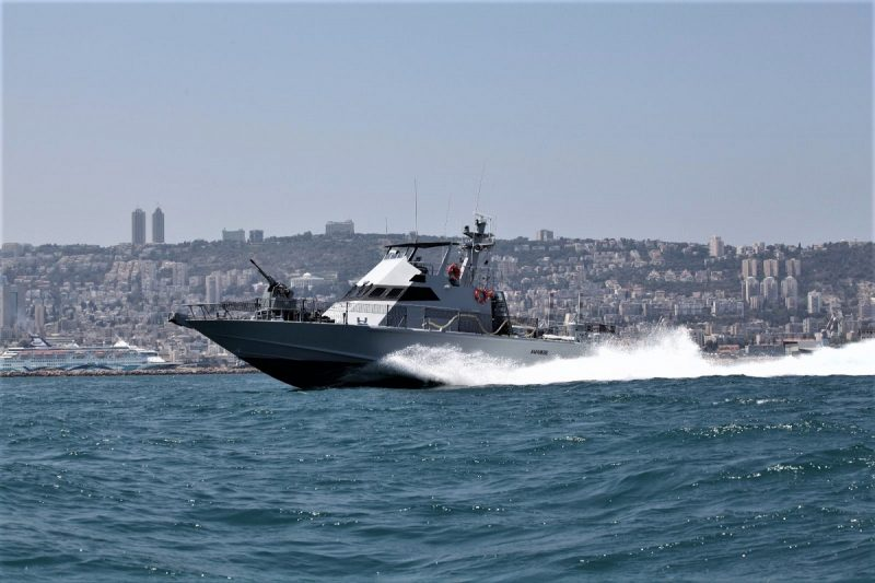 The first Shaldag MK II vessel of the Senegalese Navy, Anambe, during sea trials in Israel last year. Israel Shipyard picture.