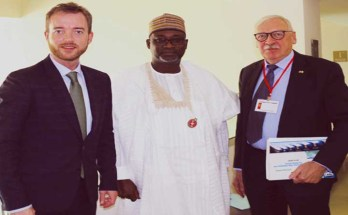 L-R: Danish minister for environment and food, Esben Lunde Larsen, a Nigerian Delegate and Danish Ambassador to Nigeria, Torben Gettermann