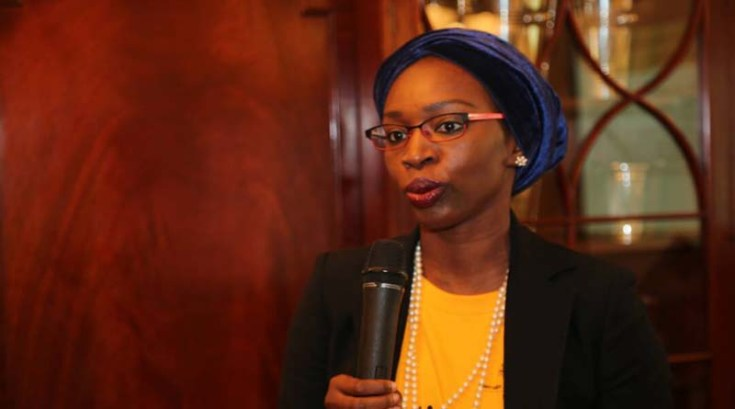 Nabila Aguele of Nigeria's planning ministry speaking at the event