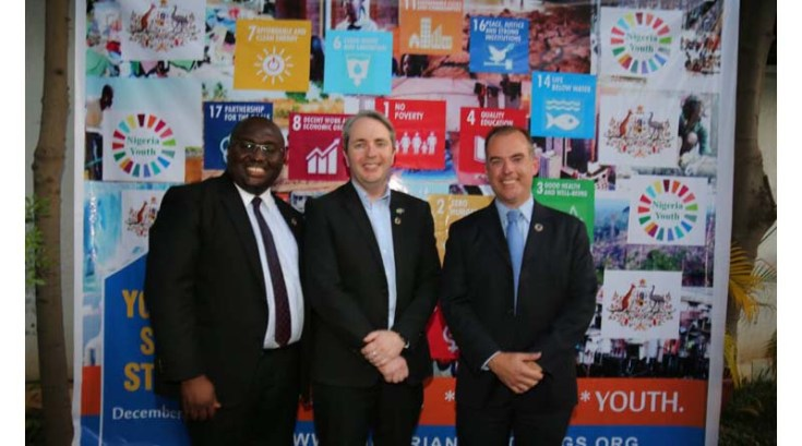 L- R: Hilary Ogbonna, His Excellency Paul Lehmann and Mitchell Toomey