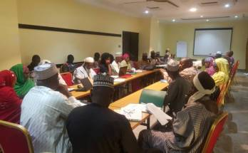 Stakeholders during a 4-day validation workshop for the Kano State Teacher Policy held recently in Zaria  Photo: DFID-PERL