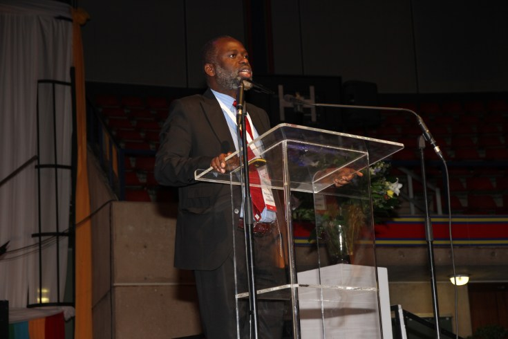 Prof. Tshilidzi Marwala, Vice Chancellor of the University of Johannesburg, who delivered the keynote lecture focused on Africa and the Fourth Industrial Revolution (FIR).