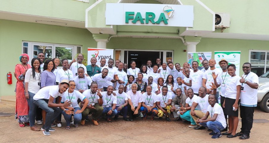 "young professionals in agriculture from across 26 African countries gathered in Accra, Ghana for a 3-day continental youth engagement workshop on the theme: ""Strategic Engagements and Capacity Development of Youth in Agri-preneurship for Technology Adoption."""