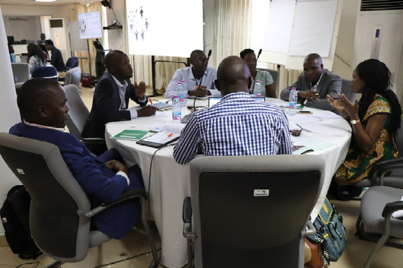 Participants brainstorming at the young engagement workshop