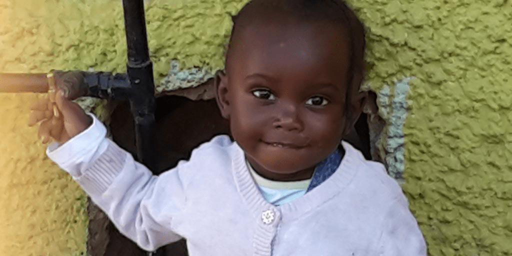 Little girl at Zambia orphanage