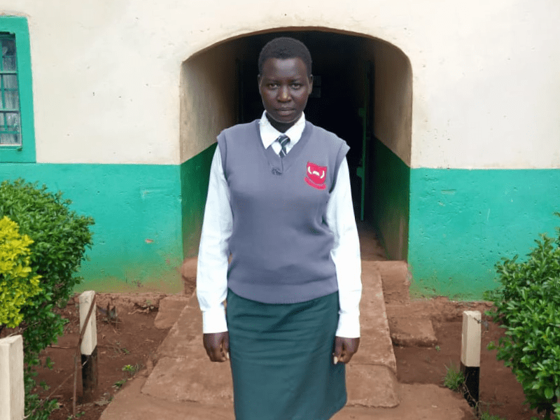 Female student from Kenya secondary school