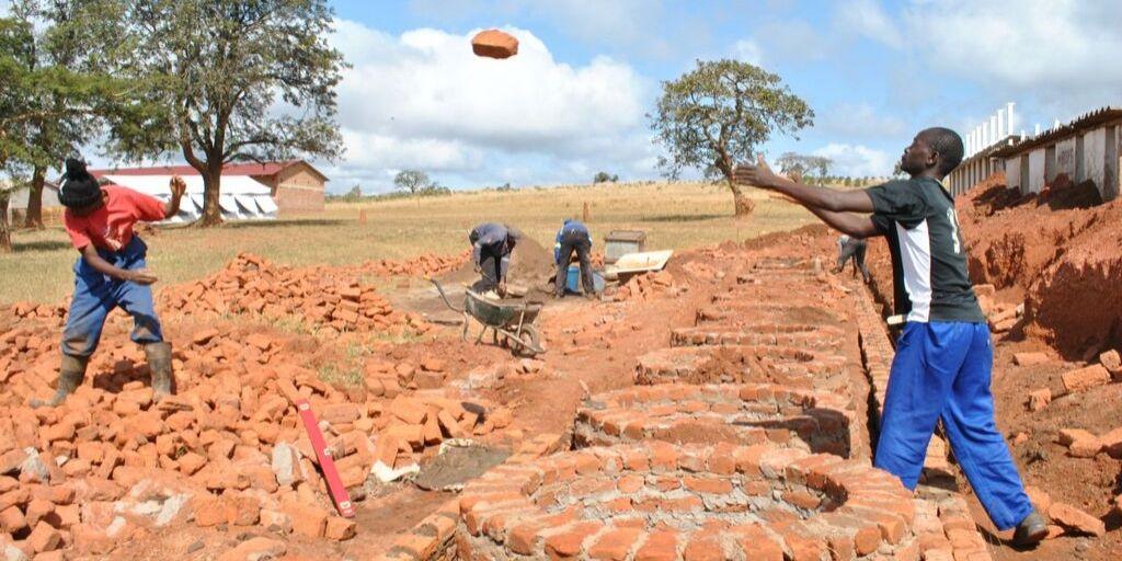 Making repairs after Cyclone Idai