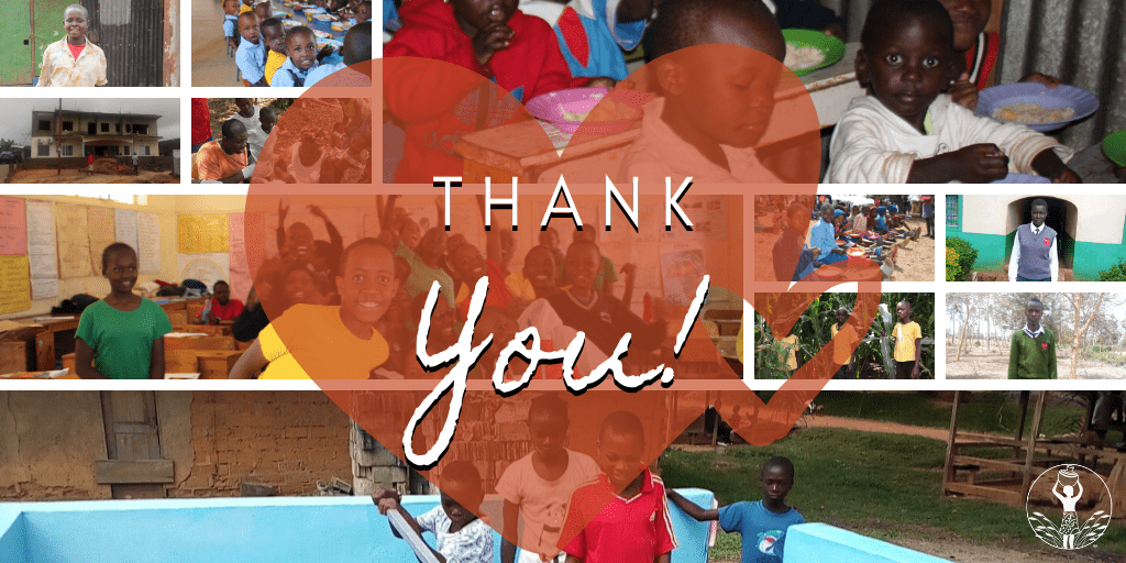 Thank You: For many years you have lived by Proverbs 19:17 to give hope to thousands of orphaned children throughout Africa!
