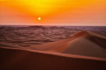 Sunset au Sahara