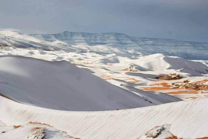 Desert snow pictures: Sahara desert ,Ain-Sefra,Algeria