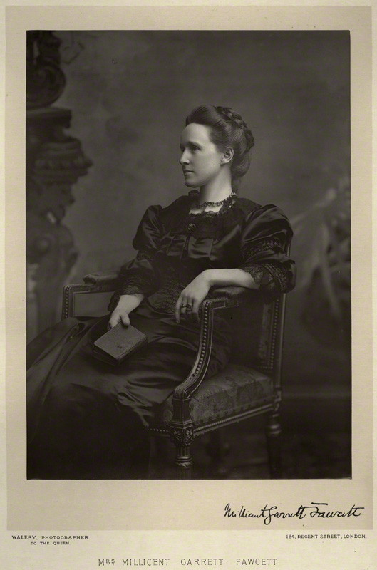 NPG x9121; Dame Millicent Garrett Fawcett (nÈe Garrett) by Walery, published by  Sampson Low & Co