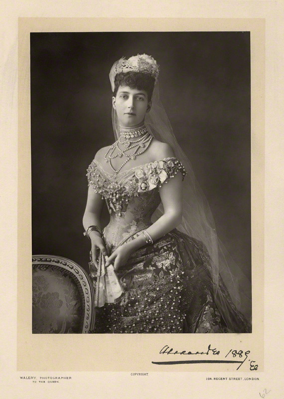 NPG x4125; Alexandra of Denmark by Walery, published by  Sampson Low & Co