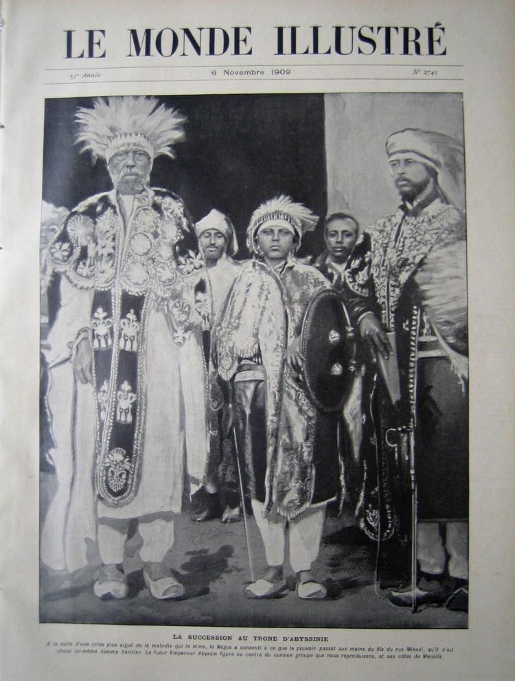 Le Monde Illustré 1909 Ménélik