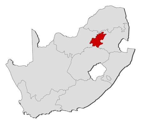 map of Gauteng province