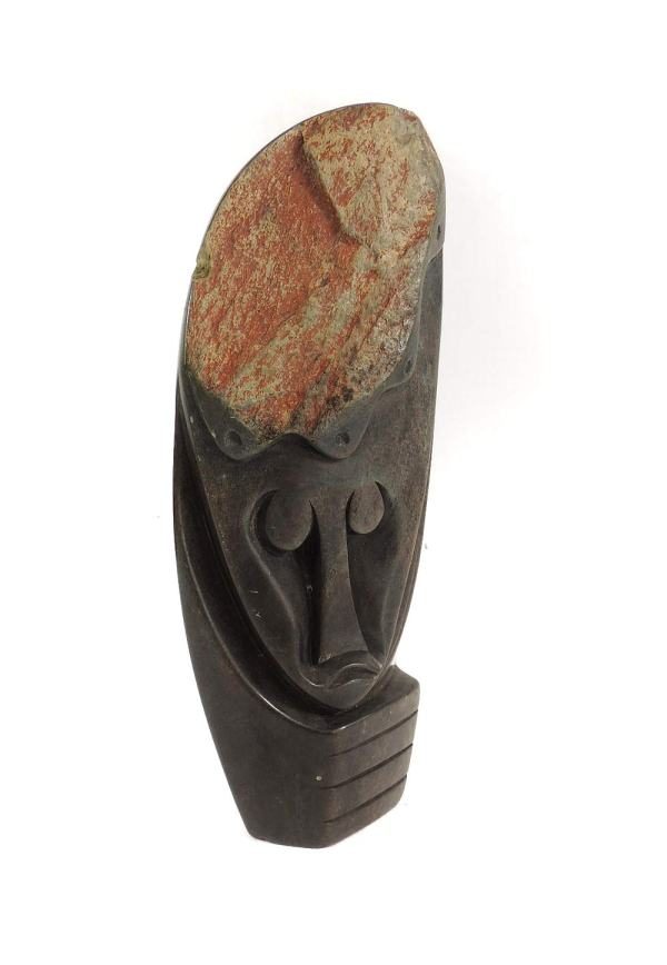 Shona Face Of Thinker Zimbabwe African Art