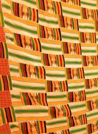 Kente Cloth Handwoven Asante Man's Cloth Ghana African Art ...