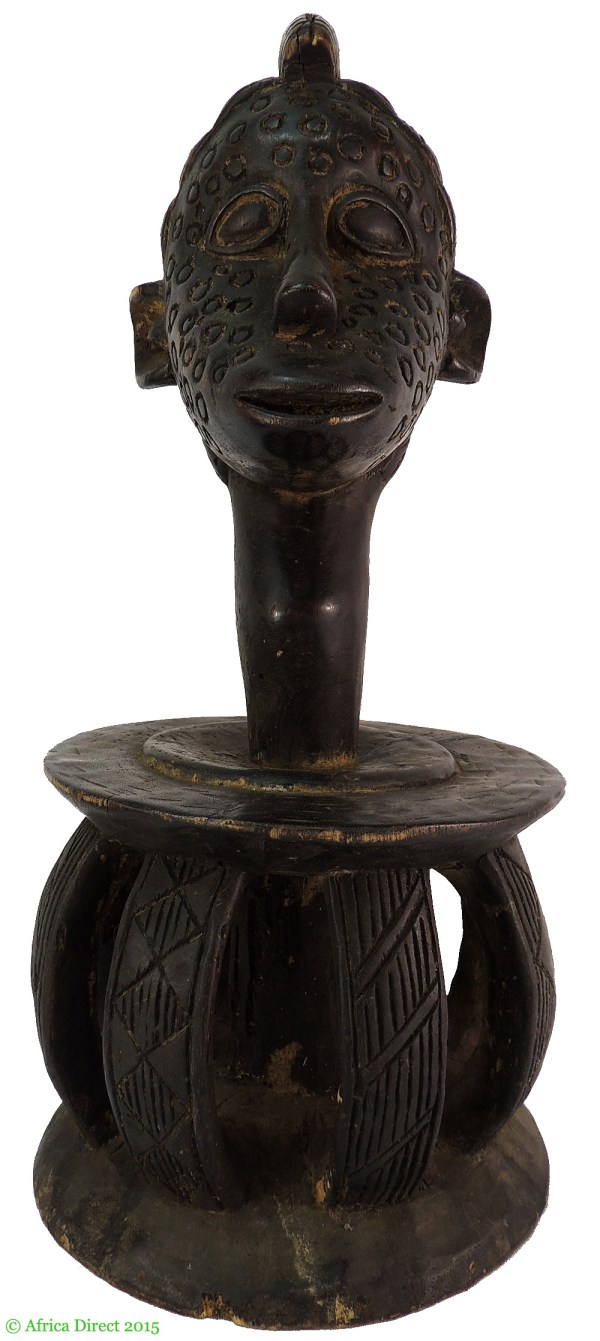 African Wood Head Carvings