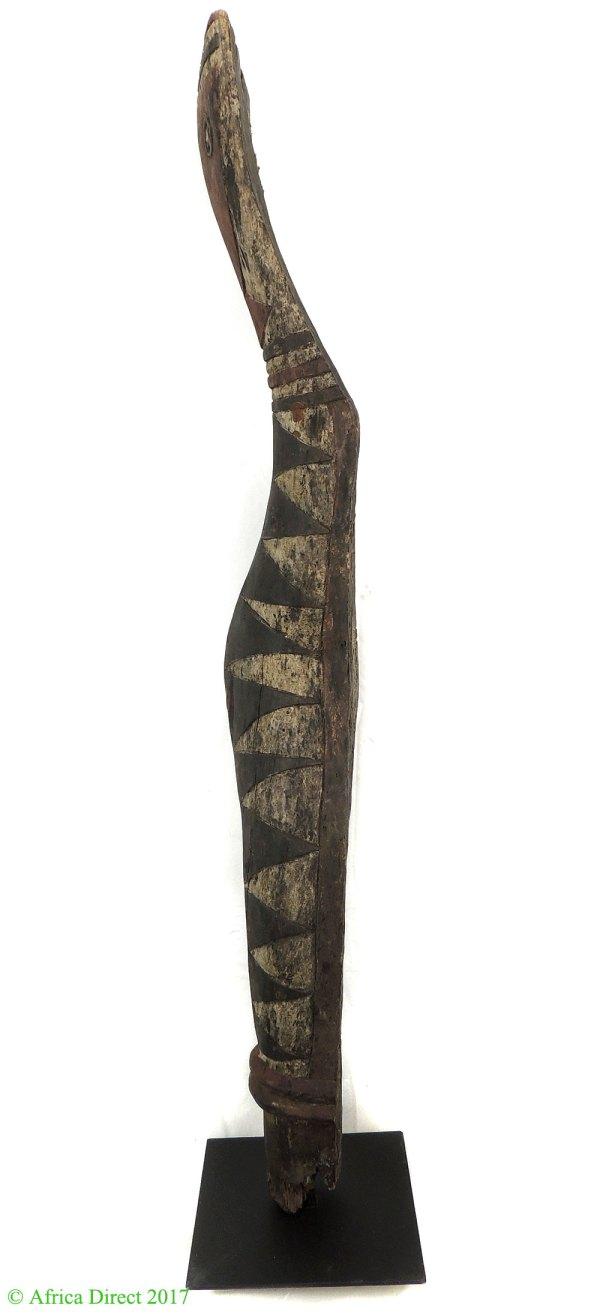 Baga Snake Bansonyi Sculpture Guinea African Art 59 - Wood Carvings