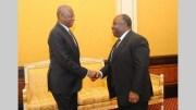 Abdoulaye Bathily et Ali Bongo Ondimba