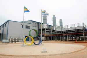 Vue extérieure de la centrale thermique de Port-Gentil (photo africtelegraph.com)