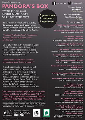 Pandora's Box 2014 - Spora Stories [back of flyer]