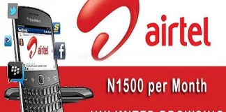 Airtel Unlimited Blackberry Plan, Get 3GB for N1500; Works on Android and PC