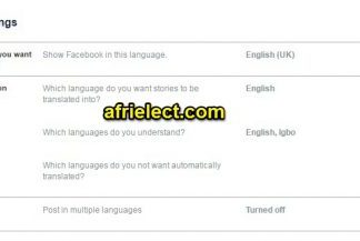 Change Facebook Language Settings