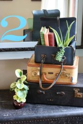 Suitcase Succulent Planter - Wanderlust Style: Suitcases as Decor - www.AFriendAfar