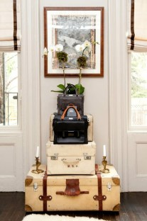 Suitcase Stacks - Wanderlust Style: Suitcases as Decor - www.AFriendAfar