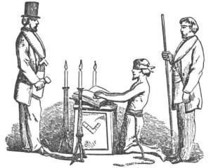 Masonic ancient symbol altar