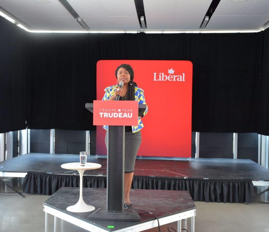 Viviane Minko, Président des politiques à la Pointe-de l'île du PLC (Parti Libéral du Canada), de la Commission des Femmes du PLC (Q) et leader de l'équipe Trudeau de ladite circonscription.