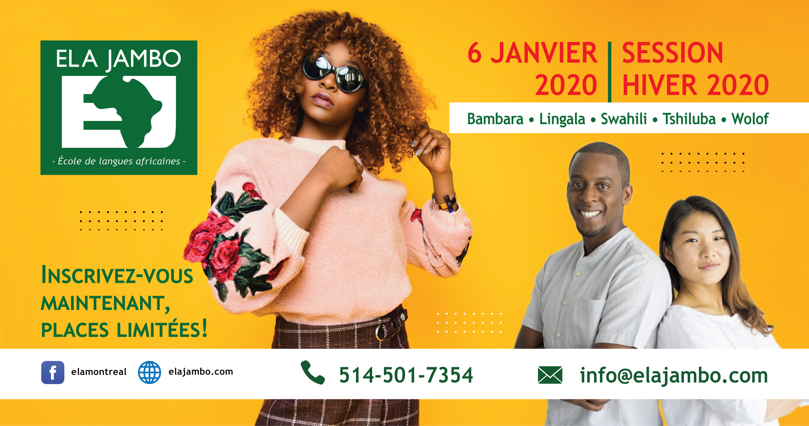 ELA JAMBO – Session Hiver 2020