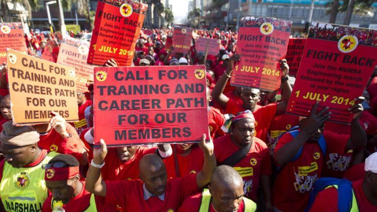 Afrique du Sud, des syndicats. Photo: Rfi