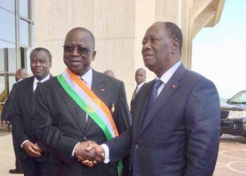 Alassane Ouattara et Ahoussou Kouadio. Photo: DR