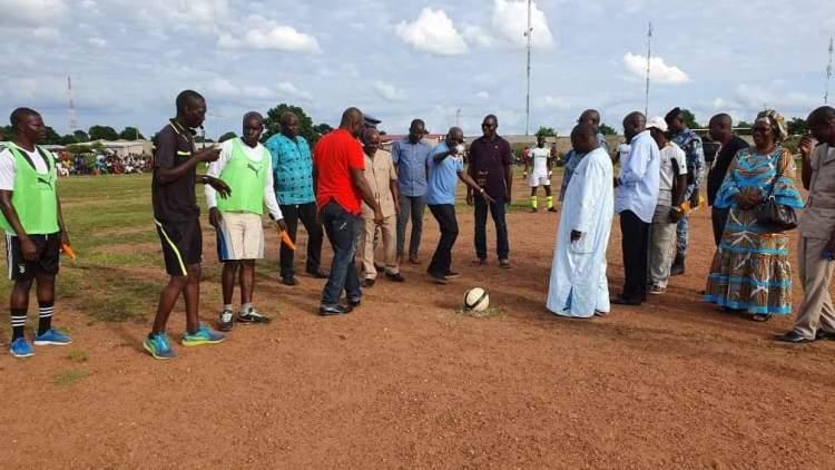 Photo lancement du tournoi. Ph : CERCOM Mairie de Tafiré
