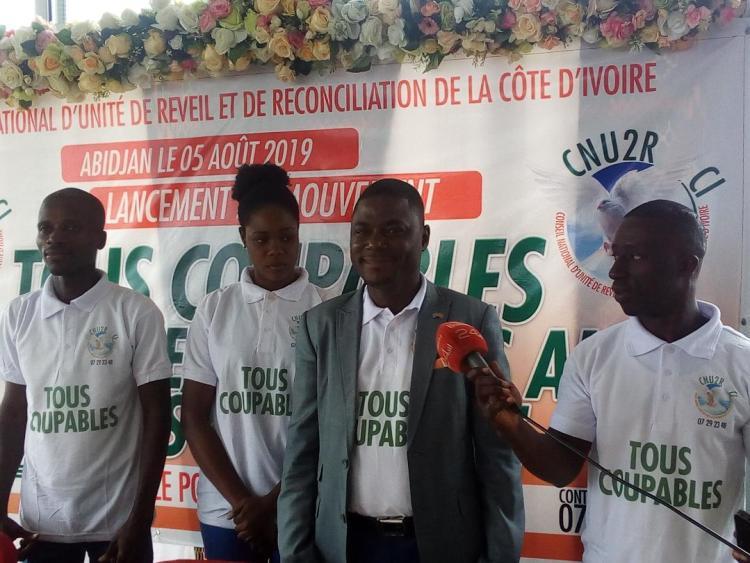 Charles Zahoui, président du Conseil National d'Unité de Réveil et de Réconciliation de la Côte d'Ivoire, (Cnu2r-CI) le lundi 6 août 2019 à Abidjan. Photo : Afrikipresse
